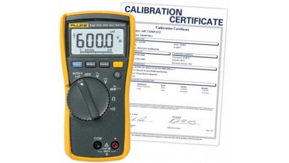 Fluke 114-NIST Electrical True RMS Multimeter, -