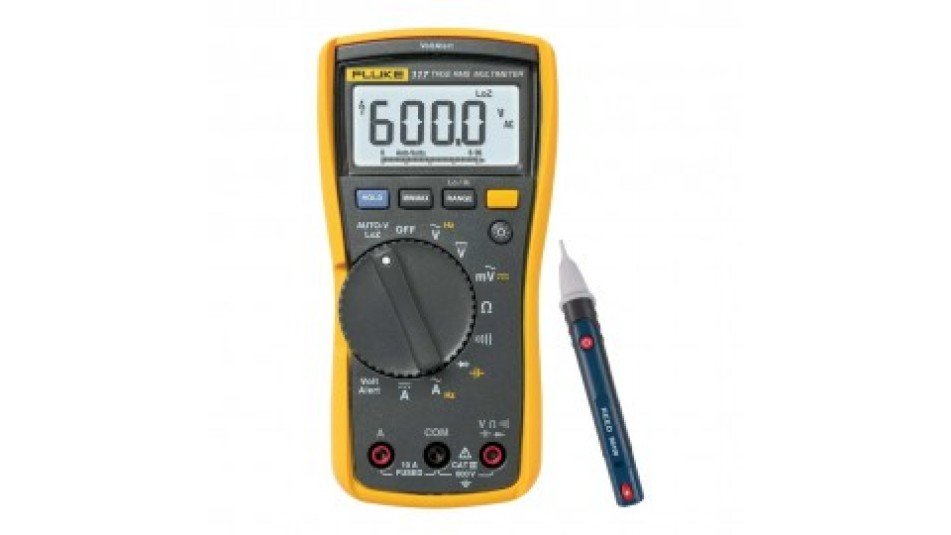 Fluke 117/EFSP Digital Multimeter Kit- Includes the R5100 Non-Contact AC Voltage Detector FREE-