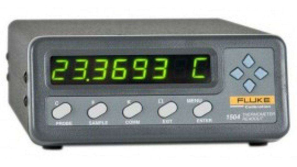 Fluke 1502A-156 Thermometer Readout, Tweener PRT, ±0.006°C at 0°C Temperature Accuracy-