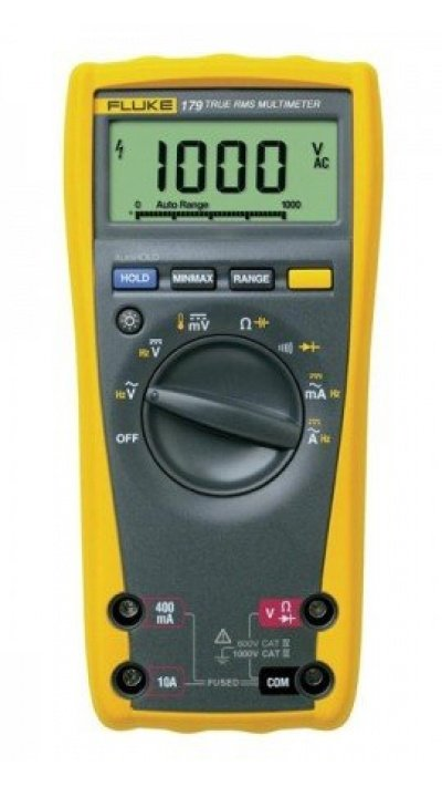 Fluke 179 True RMS Digital Multimeter with built-in thermometer-