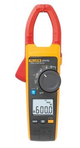 Fluke 374 FC True RMS AC/DC Clamp Meter, 600 A, 1000 V-