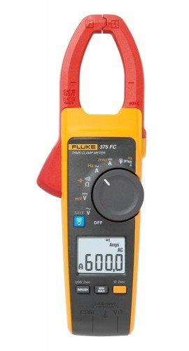 Fluke 375 FC True RMS AC/DC Clamp Meter, 600 A, 1000 V-