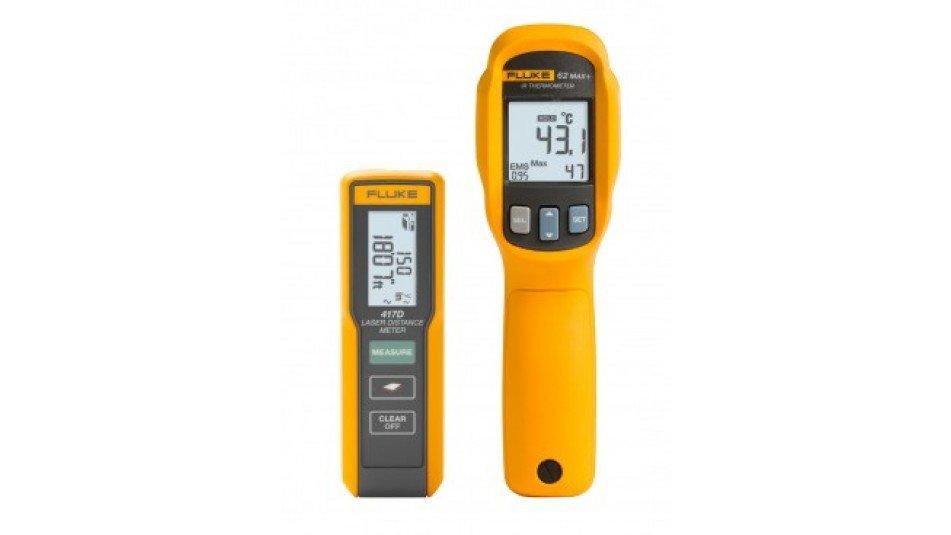 Fluke 417D+62MAX+ KIT Laser Distance Meter/Infrared Thermometer Combo Kit-