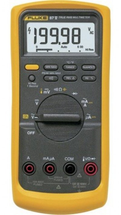 Fluke 87V True RMS Industrial Multimeter with temperature-